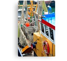 Fishing boat for North Sea shrimps Canvas Print