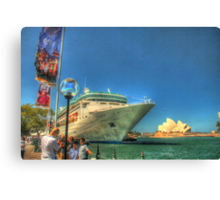 Rhapsody & the Opera House in HDR Canvas Print