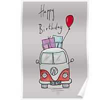 Birthday Camper Van With Presents  Poster