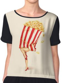 Let's All Go to the Lobby - Popcorn Girl Chiffon Top