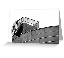 Bank Mega office tower Greeting Card