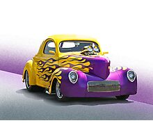 1941 Willys 'Pro Street' Coupe Photographic Print