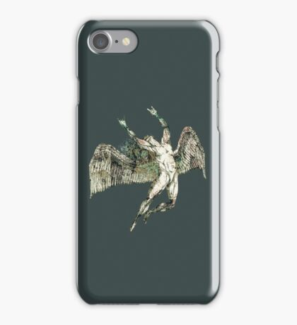 ICARUS THROWS THE HORNS - antique grunge iPhone Case/Skin