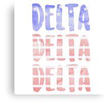 Tri Delta Canvas Print