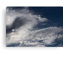 Dramatic Cloud Formations in Afternoon Sky Canvas Print