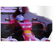 Fernando Alonso F14T Poster