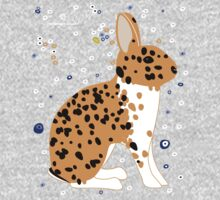 Black Spotted Japanese Rabbit One Piece - Long Sleeve