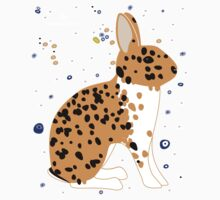 Black Spotted Japanese Rabbit Kids Tee
