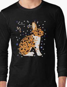 Black Spotted Japanese Rabbit Long Sleeve T-Shirt
