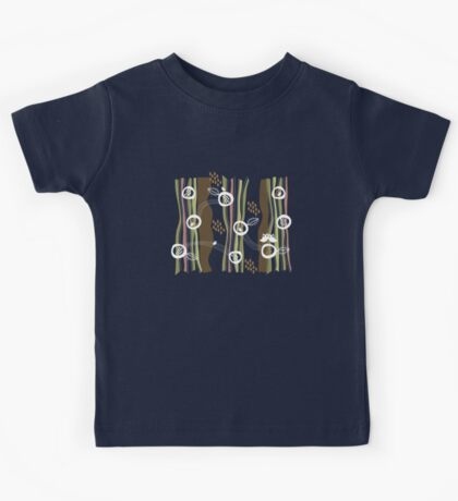 Retro Owls Family 2 Kids Tee