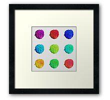 Coloured Broccoli Framed Print