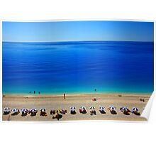 Deep blue - Egremni beach, Lefkada island Poster