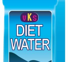 Diet Water Bottle Sticker