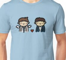 the pie lover and the fluffy angel Unisex T-Shirt