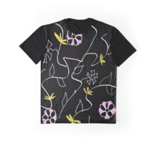 Pink & Yellow Floral Graphic T-Shirt