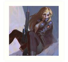 Sniper Wolf Art Print
