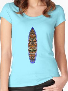 Tiki Surfboard Women's Fitted Scoop T-Shirt
