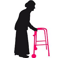 Granny with cane walking stick go Bock by Style-O-Mat