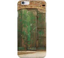 Green Door 32 iPhone Case/Skin