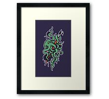 Octopus Ink Framed Print