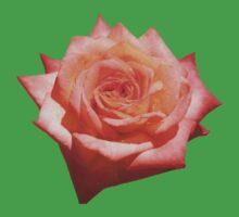 Orange Rose on Green One Piece - Short Sleeve