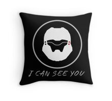 I Can See You  P/B - Black Throw Pillow