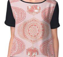 Indian Paisley Motif Pink Pattern Chiffon Top
