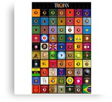 Trojan records Collections Canvas Print