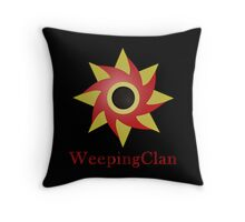 Weeping Emblem P/B - Black Throw Pillow