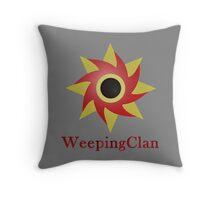 Weeping Emblem P/B - Grey Throw Pillow