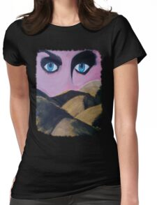 Eyes in the desert Womens Fitted T-Shirt