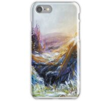 sunset at Mt. Eagle iPhone Case/Skin