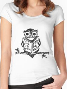 Optometry Owl Women's Fitted Scoop T-Shirt