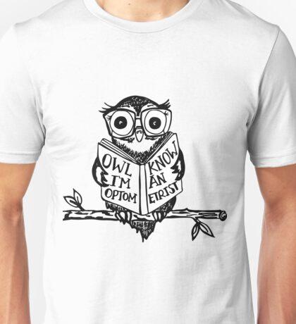 Optometry Owl Unisex T-Shirt