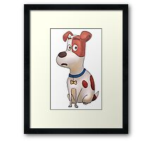 The secret life of pets - Max Framed Print
