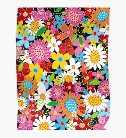 Spring Flowers Power Poster