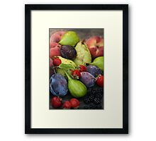 Harvest Organic Vegetables Framed Print