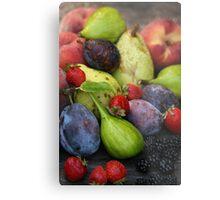 Harvest Organic Vegetables Metal Print