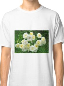 White roses in the garden. Classic T-Shirt
