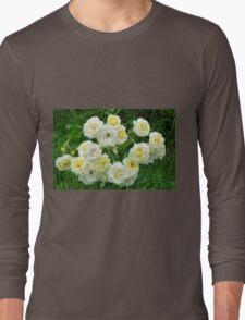 White roses in the garden. Long Sleeve T-Shirt