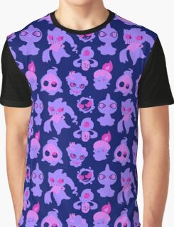 Ghost Pokemon Pattern Graphic T-Shirt