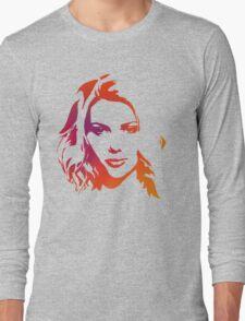 Cutout Series: 01 Scarlett Johansson Long Sleeve T-Shirt