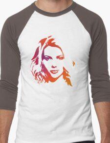 Cutout Series: 01 Scarlett Johansson Men's Baseball ¾ T-Shirt