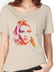 Cutout Series: 01 Scarlett Johansson Women's Relaxed Fit T-Shirt
