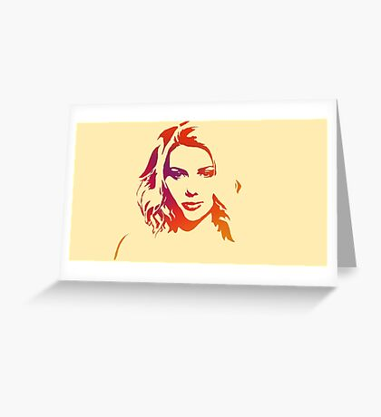Cutout Series: 01 Scarlett Johansson Greeting Card