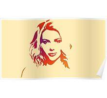Cutout Series: 01 Scarlett Johansson Poster