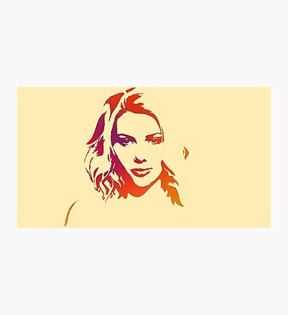 Cutout Series: 01 Scarlett Johansson Photographic Print