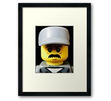 Lego Janitor minifigure Framed Print