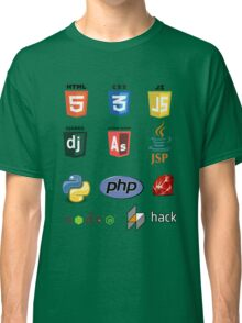 web developer programming language set Classic T-Shirt