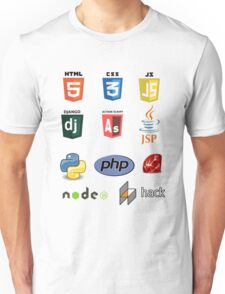 web developer programming language set Unisex T-Shirt